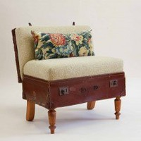 Suitcase Chair ? Leather case/yellow knit ? Seating ? Recreate