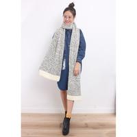 d/s by Drive Store™ Oversized Monochrome Textural Knitted Scarf