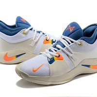 Nike Zoom Paul George PG 2.0 - White/Blue/Orange