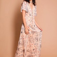 Eastern Sun Floral Maxi Dress | Threadsence