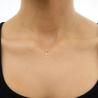Simple Silver Gold Color Chain Cross Necklace Animal Unicorn Choker Necklace for Women Girl colar collier collares