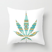 Navajo Leaf Throw Pillow by LookHUMAN