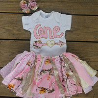 first birthday outfit girl, 1st birthday outfit, pink camouflage outfit, pink camo, baby party dress, cake smash outfit girl, cake smash set