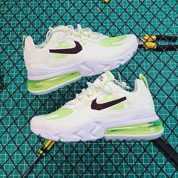 Nike Air Max 270 React White/green Running Shoes