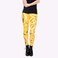 Yellow fruit banana Leggings