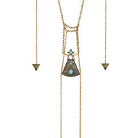 Antique Queen Layered Necklace - Gold