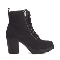 New Look Croydon Lace Up Chunky Heeled Boots