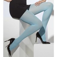 Opaque Tights - Blue - One Size
