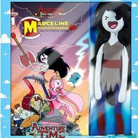 Adventure Time Plush Marceline with Comic Book New!