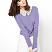 Peter Pan Collar Long-Sleeve Shirt