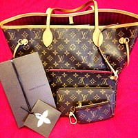 Trulym: LV Fashion Women 【Louis Vuitton】 Two piece And Key pouch-Coin purse