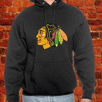 Chicago Blackhawks, Blackhawks Hoodie, Blackhawks Jersey, Chicago Blackhawks Black n Red Til Im Cold n Dead Hoodie