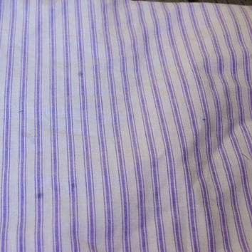 """Lavender Purple and White Striped Ticking Fabric 3.5 yds x 60"""" wide"""