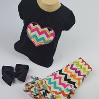 Heart Outfit by Mandy Lou {Black/Multi Color}