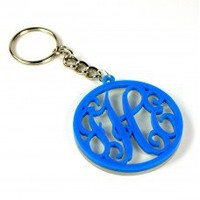 Script Monogram Flourish Key Chain - Shop for Script Monogram Flourish Key Chain at Karson Lane