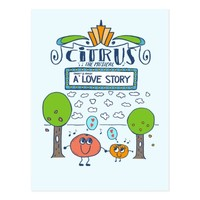 Citrus The Musical, Cute Illustrated Broadway Show Postcard