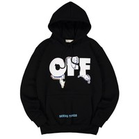 Offwhite Women Men Fashion Casual Edgy Pattern Hooded Top Sweater Pullover-1