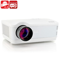 """LED Android 4.4 Projector """"DroidBeam II"""" - 250 Inch HD Projection, 3000 Lumens, 1.5GHz Quad Core CPU, Wi-Fi, 8GB Memory"""