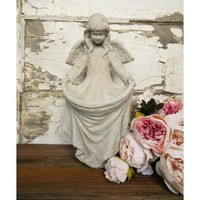 Estate Stone Angel Statue - Colorful Cast and Crew