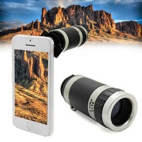 For iPhone 5C Telescope Telephoto 8X Zoom Phone Camera Lens With Case Cover