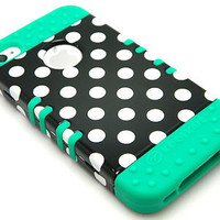 FOR iPhone 4 4S Hybrid Rugged Rubber Matte Hard Case Cover w/ Screen Protector