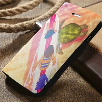 Disney Lilo and Stitch Custom Wallet iPhone 4/4s 5 5s 5c 6 6plus 7 and Samsung Galaxy s3 s4 s5 s6 s7 case