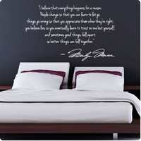 WHITE Marilyn Monroe Wall Decal Decor Quote I Believe things happen...Large Nice