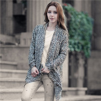 Stylish Hot Sale Winter Leopard Print Cardigan Jacket [8999110404]