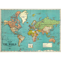 20 x 28 Vintage World Map Poster
