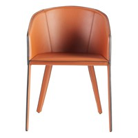 Pallas Arm Chair In Cognac And Black