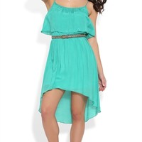 High Low Dress with Ruffle Bust
