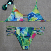 Hollow Out Green Comfortable Swimsuits