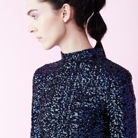 Kiko Mizuhara for Opening Ceremony Sequined Long-Sleeve Cropped Top - WOMEN - JUST IN - Kiko Mizuhara for Opening Ceremony