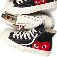 Converse PLAY High-tops &low-tops canvas shoes love heart  AA-SDDSL-KHZHXMKH