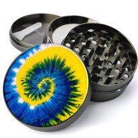 Peace, Love and Tie Dye #1  Metal 5 Piece Herb Grinder With Fine Screen - Create Your Own Grinder!