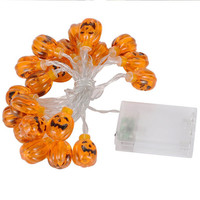 Battery box Halloween theme party LED pumpkin lamp 2 meters 20 lights outdoor decorative props hanging landscape lamp warm white