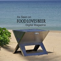 Fire Sense Stainless Steel Notebook Charcoal Grill