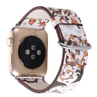 Colorful fashion Strap for Apple Watch band 38/42mm Series 1 2 Leather loop