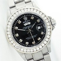 Rolex Fashion Women Men Diamond Watch Stainless Steel Wristwatch Silver B