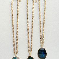 24K Gold Plated - Hand Crafted Agate Necklace