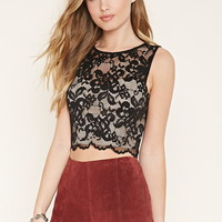 Floral Lace Crop Top | Forever 21 - 2000170854