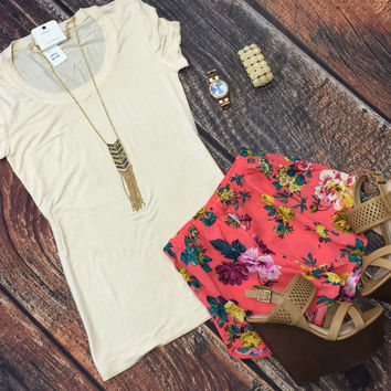 Flossy Floral Shorts
