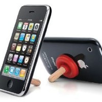 Mini Plunger Sucker Stand for Mobile iPhone 3G/3GS/4G (Red)