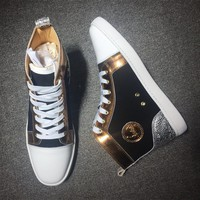 Cl Christian Louboutin Suede Style #2223 Sneakers Fashion Shoes