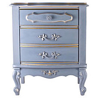 French-Style Lavender Nightstand