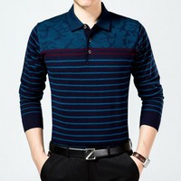 Fashion Wool blends Knitted Bussiness Men Polo shirt