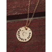 Hammered Gold California Love necklace