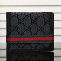 Gucci Man Leather Purse Wallet