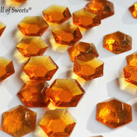 125 Burnt Sugar Jewels OLD FASHIONED Barley Sugar Candy Gifts Cake Decor Toppers 6.5 oz
