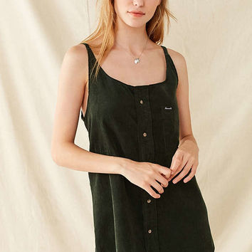 Urban Renewal Remade Button-Down Corduroy Shift Dress   Urban Outfitters